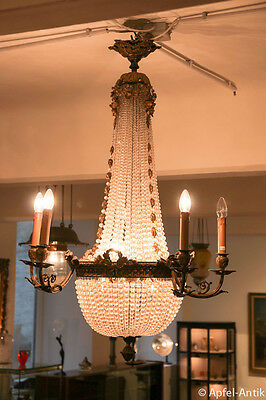 KORBLUSTER um 1880 - CHANDELIER around 1880