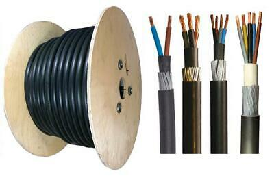 50 Meter Drums 2 3 4 & 5 Core SWA Cable All Sizes 1.5mm-25mm Armoured Cable