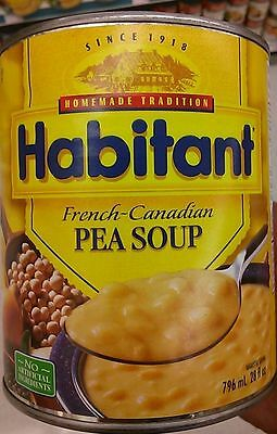 New HABITANT READY TO SERVE FRENCH CANADIAN PEA SOUP (4) LOT OF 4 796ml CANS