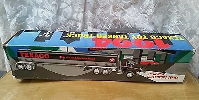 "** Texaco 1994 Toy Tanker Truck ""Star of the American Road"" 1st in collectors **"