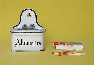 Vintage French Enamelware Matches Box