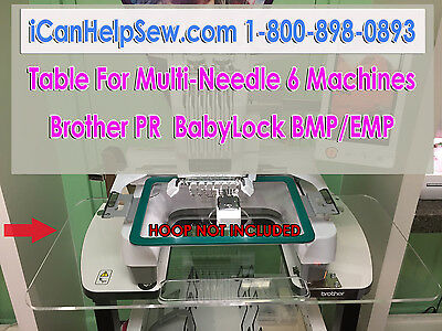 Table Extension for 6 Needle Embroidery Frame PR600/620/650/655 BROTHER BABYLOCK