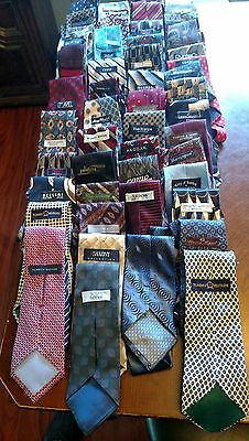 50 different 100% silk USED ties Many Brands as pictured no stains, no damage