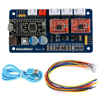 2 Axis USB Stepper Motor Driver Laser Controlling Module Board for GRBL TE693