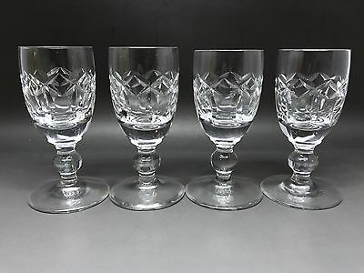 4 Vintage Waterford Liqueur Glasses - With Makers Mark On Base