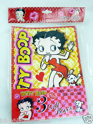 Betty Boop Gift Boxes Three Count Package 2008 Collectible