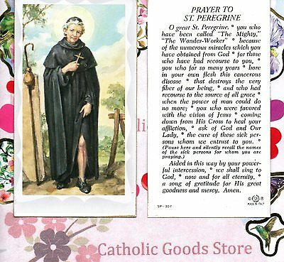 St. Peregrine with Prayer to Saint Peregrine - Paperstock Holy Card