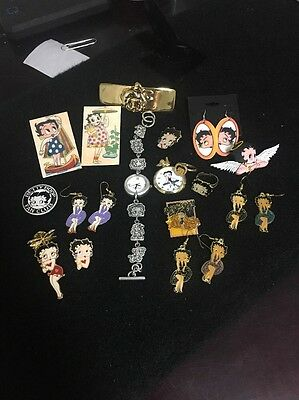 Lot of Betty Boop earring pins watch and rings