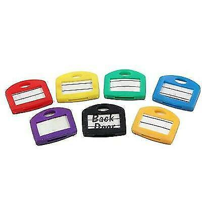 Key Cap Tags, 24 Pack, 6 Assorted Colors Key ID Ring Covers with Blank Labels,