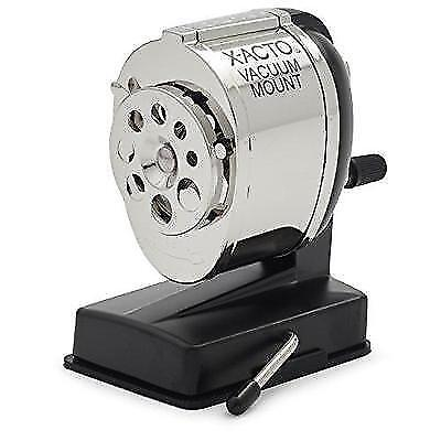 X-ACTO KS Manual Pencil Sharpener, Vacuum Mount, Silver New