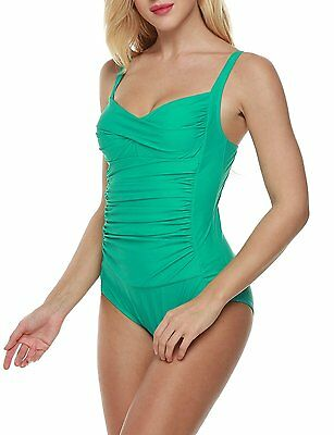 e7c65bec365 Ekouaer Womens Elegant Inspired Vintage One Piece Pin Up Monokinis Swimsuit (FBA)
