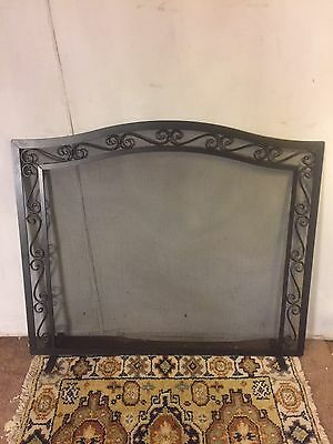 Fireplace Screen/stand.Solid Iron & heavy Metal Mesh.C8pics4size/etc.MAKE OFFER
