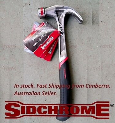 NEW Sidchrome Sid 16Oz Claw Hand Hammer SCMT27440 tools soft grip Shock Absorber