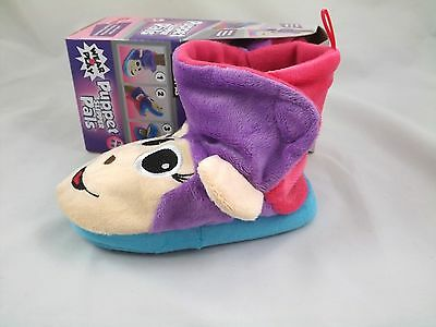 Monkey Slippers Puppet Pal Toddler Girl Size 6 7 8 9 10 11 12 13 Bootie New Box