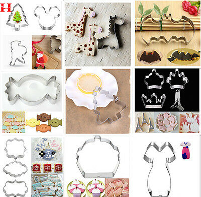 Xmas Party Stainless Steel Biscuit Cookie Cutter Cake Decor Chocolate Mould Tool