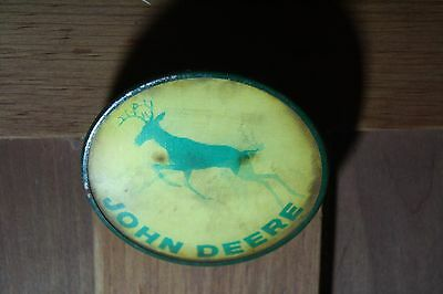 JOHN DEERE RUNNING DEER  Vari-Vue Motion Button by Pictorial Productions  1960's