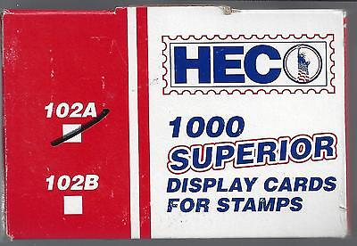 Box of 1000 HECO 102A Cards White 4-1/4 x 2-3/4 FREE U.S. SHIPPING