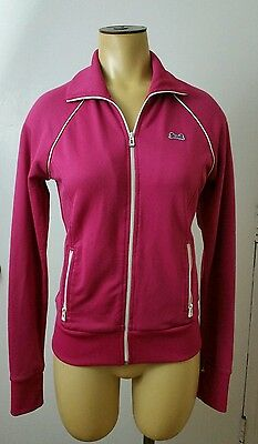 Vintage 1980's LE TIGRE Track Jacket Pink Small/Medium Running Tennis Active