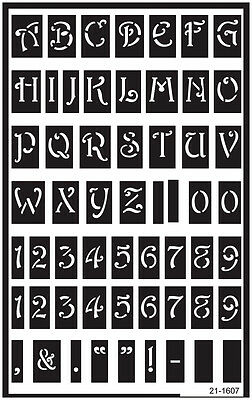 "Over 'N' Over Reusable Stencils 5""X8"" Large Alphabet GE21-1607"