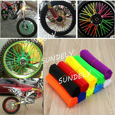 72x Universal Motocross Dirt Bike Enduro Wheel Rim Spoke Wraps Skins Covers