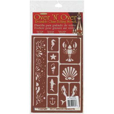 "Over 'N' Over Reusable Stencils 5""X8"" Under The Sea GE21-1658"