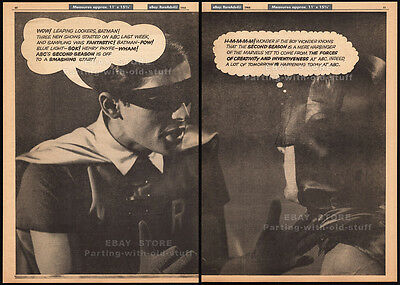 BATMAN_TV series__Original 1966 Trade AD / ABC promo_poster__ADAM WEST_BURT WARD
