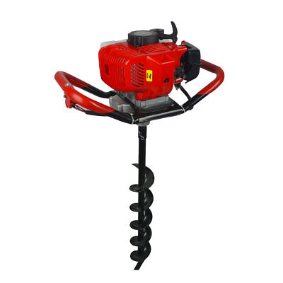 "2.2HP Gas Powered 52cc Post Hole Digger + 4""/ 8""/10"" Earth Auger for Planting"