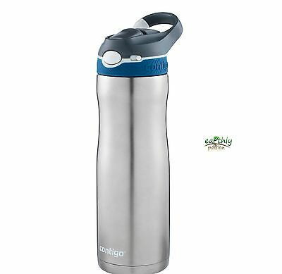 Contigo Ashland Chill Monaco Insulated SS Drink Bottle Flask Thermos 20oz 590m