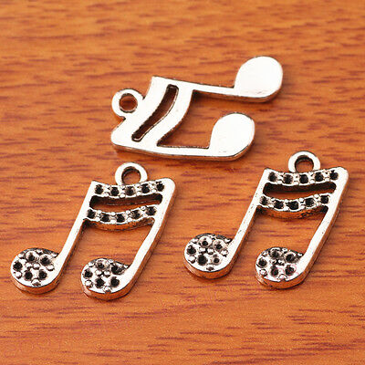 20 Pieces 18*15mm Music Note Pandent Jewelry Making Bracelet Necklace 7409E