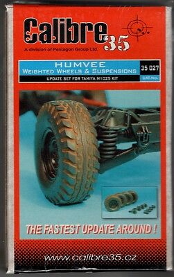 Calibre35 Cal35027 - Humvee Weighted Wheels & Suspension - 1/35 Resin Kit