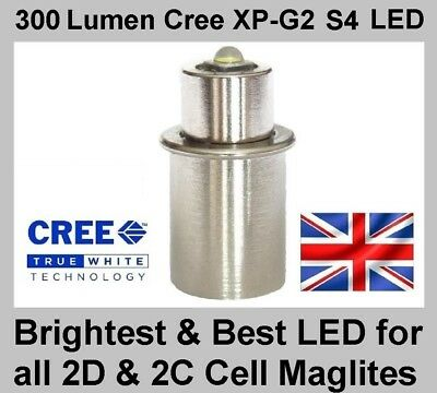 MAGLITE LED UPGRADE BULB Cree TTS Conversion for 2D & 2C Cell Torch Flashlight