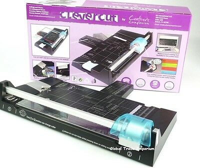 Crafters Companion CLEVERCUT A4 Paper Trimmer - 5 in 1 Trimmer - FREE UK P&P