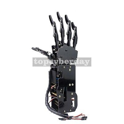 Assembled Acrylic Mechanical Robot Arm Claw Humanoid Right Hand  & Servos DIY