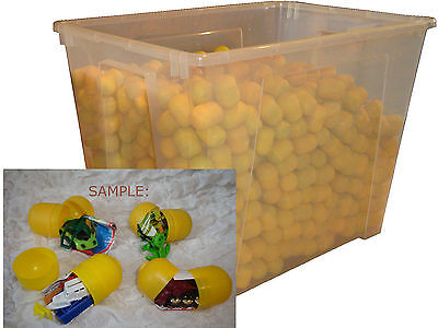 70 pcs kinder-surprise toys in eggs yellow eggs ONLY DIFFERENT no Twice easter