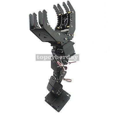 Robo2U 6DOF Robot Mechanical Arm Hand Clamp Claw Manipulator Frame for Arduino