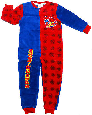 New Size 3-8 Kids Pyjamas Winter Bodysuit Spiderman Boys Sleepwear Jumpsuit Pjs
