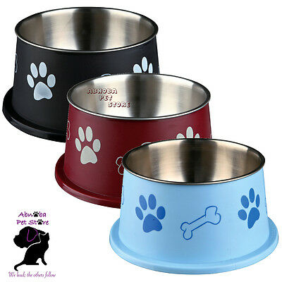 Trixie Long Ear Bowl For Spaniel Type Dog Food Or Water Stainless Steel non-slip