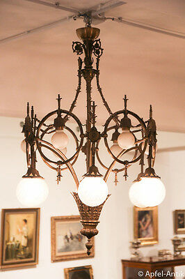 IMPOSANTER LUSTER um 1900 - IMPOSANT CHANDELIER around 1900