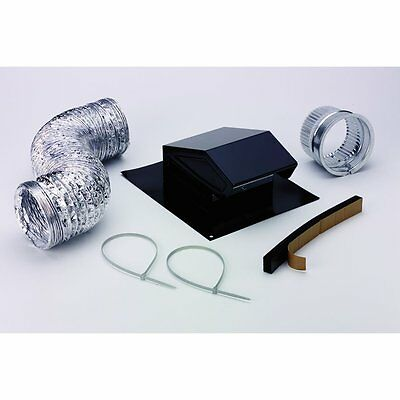 Roof Vent Duct Cap Kit Kitchen Bathroom Roofing Attic Exhaust Fan Ventilation