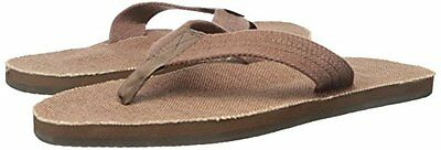 66556398bc2d Men Rainbow Sandals Single Layer Hemp Top   Strap with Arch 301AHTS0 BRN0  Brown