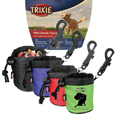 Mini Snack Bag easy close due to drawstring hook to attach lead/ belt show dogs