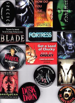 HORROR SCI-FI MOVIE Promo Pin Lot Alien Chucky Freddy vs Jason Devil's Rejects
