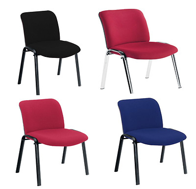 Pavillion Stacking Chairs Chrome or Black Framed Blue/Claret/Charcoal Free P&P