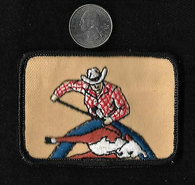 Vintage 60s-70s CALF ROPING Rodeo Cowboy PBR Collectors Patch