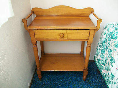 1920's Light Oak or Pine Country Washstand/Nightstand