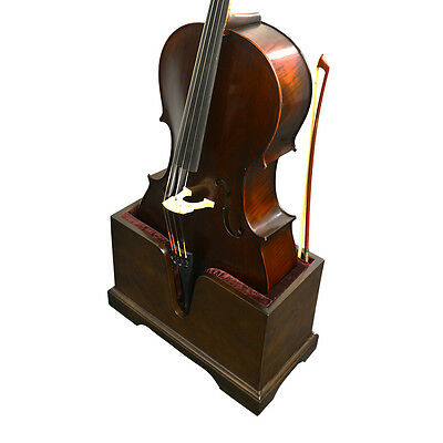 Vienna Strings Cello Stand with Bow Holder - Walnut