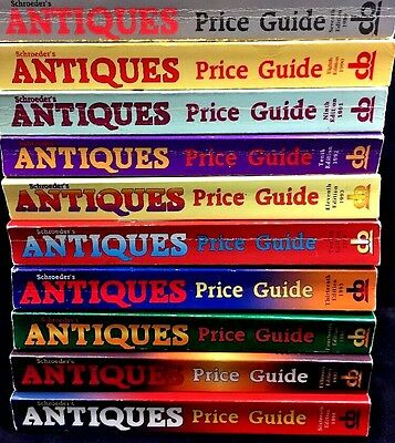 Price Lot Guides Books Antiques Schroeder Lot Collectible Values 10 Editions VTG