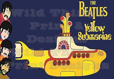 Vintage THE BEATLES Yellow Submarine POSTER A1/A2/A3 & A4 Print - 004