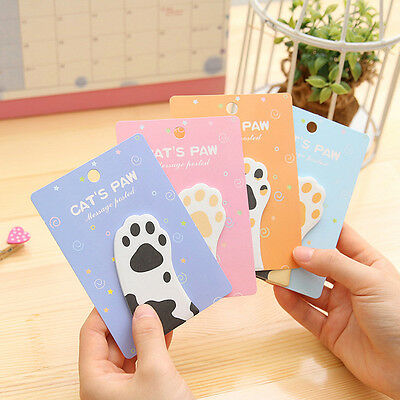 Cute Cat's Paw Sticker Bookmark Memo Pad Marker Flags Sticky Notes New