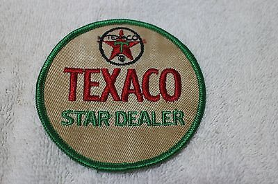 "Vintage Texaco Star Dealer Uniform Embroided Cloth Oil & Gas 3 1/2"" Patch"